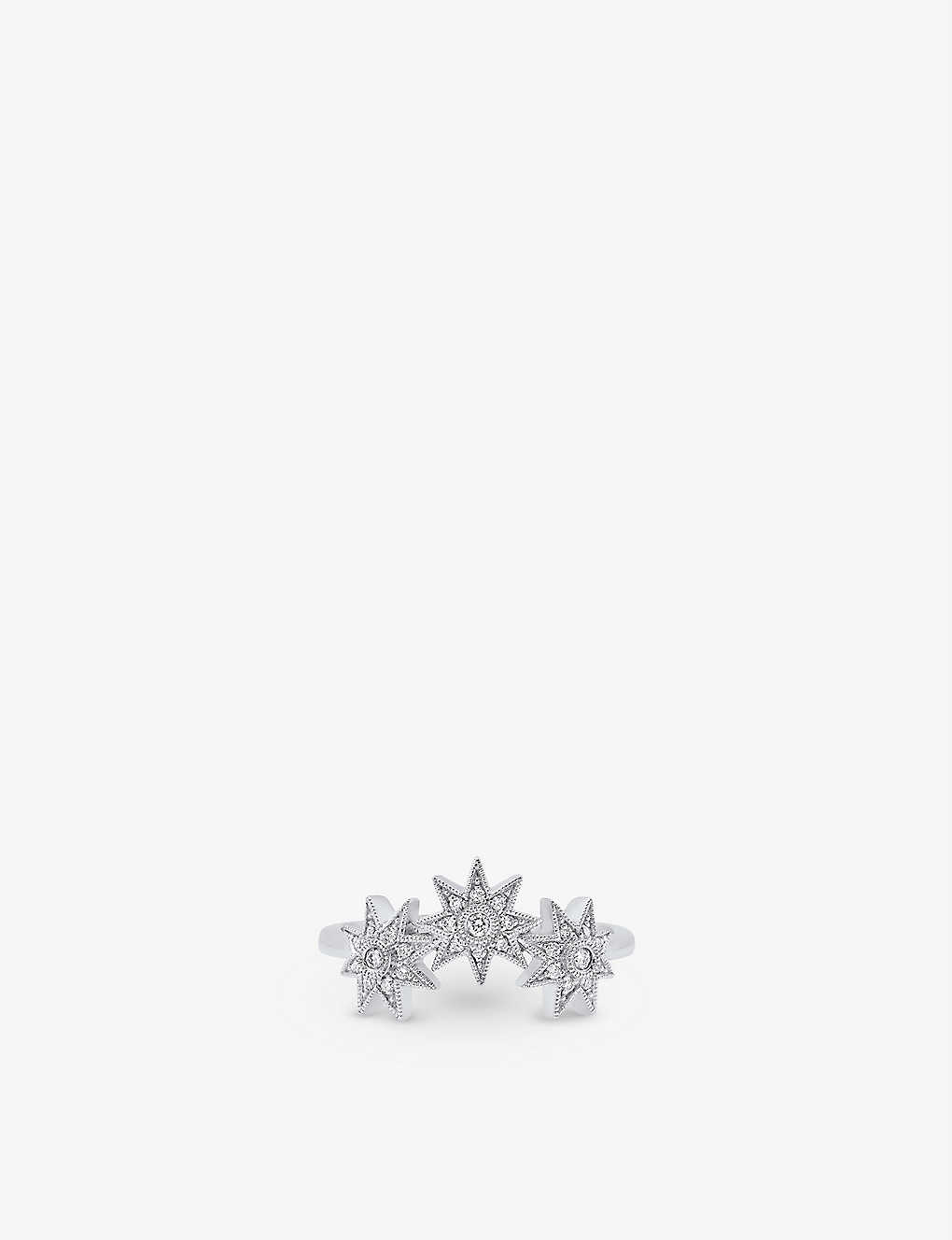 THE ALKEMISTRY: Colette Galaxia Three Star 18ct white-gold and diamond ring