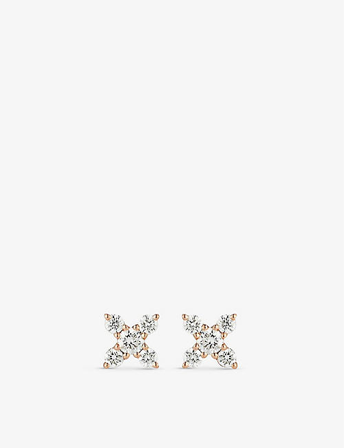 THE ALKEMISTRY: Dana Rebecca Ava Bea 14ct rose-gold and diamond earrings