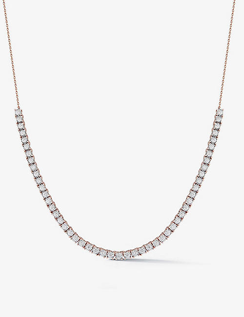 THE ALKEMISTRY: Dana Rebecca Ava Bea Tennis 14ct rose-gold and diamond necklace