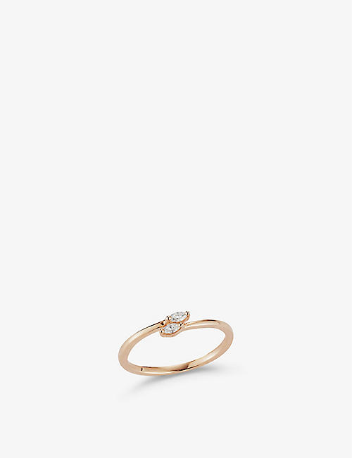 THE ALKEMISTRY: Dana Rebecca Alexa Jordyn Bypass 14ct rose-gold and diamond ring