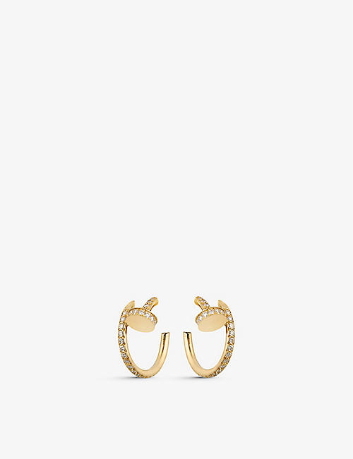 CARTIER: Juste un Clou 18ct yellow-gold and 0.51ct brilliant-cut earrings