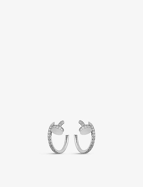 CARTIER: Juste un Clou 18ct white-gold and diamond earrings