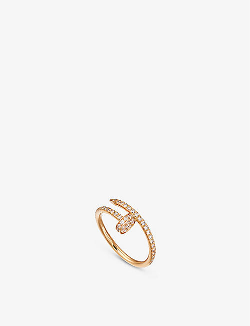 CARTIER: Juste un Clou 18ct rose-gold and diamond ring