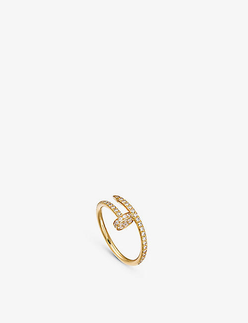 CARTIER: Juste un Clou 18ct yellow-gold and diamond ring