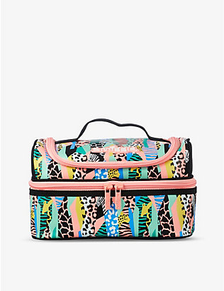 SMIGGLE: Illusion abstract-print double-decker lunchbox