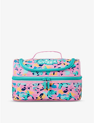 SMIGGLE: Illusion cat-print double-decker lunchbox