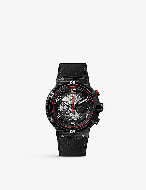 HUBLOT: 526.QB.0124.VR Classic Fusion Ferrari GT 3D carbon and rubber strap watch