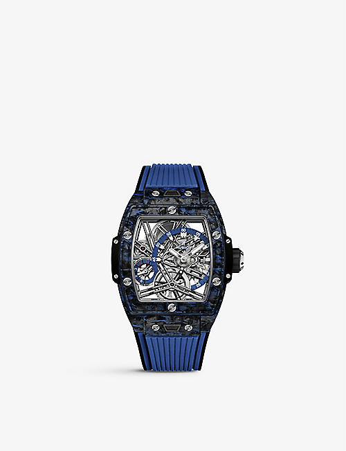 HUBLOT: 645.QL.7117.RX Spirit of Big Bang carbon and rubber strap watch