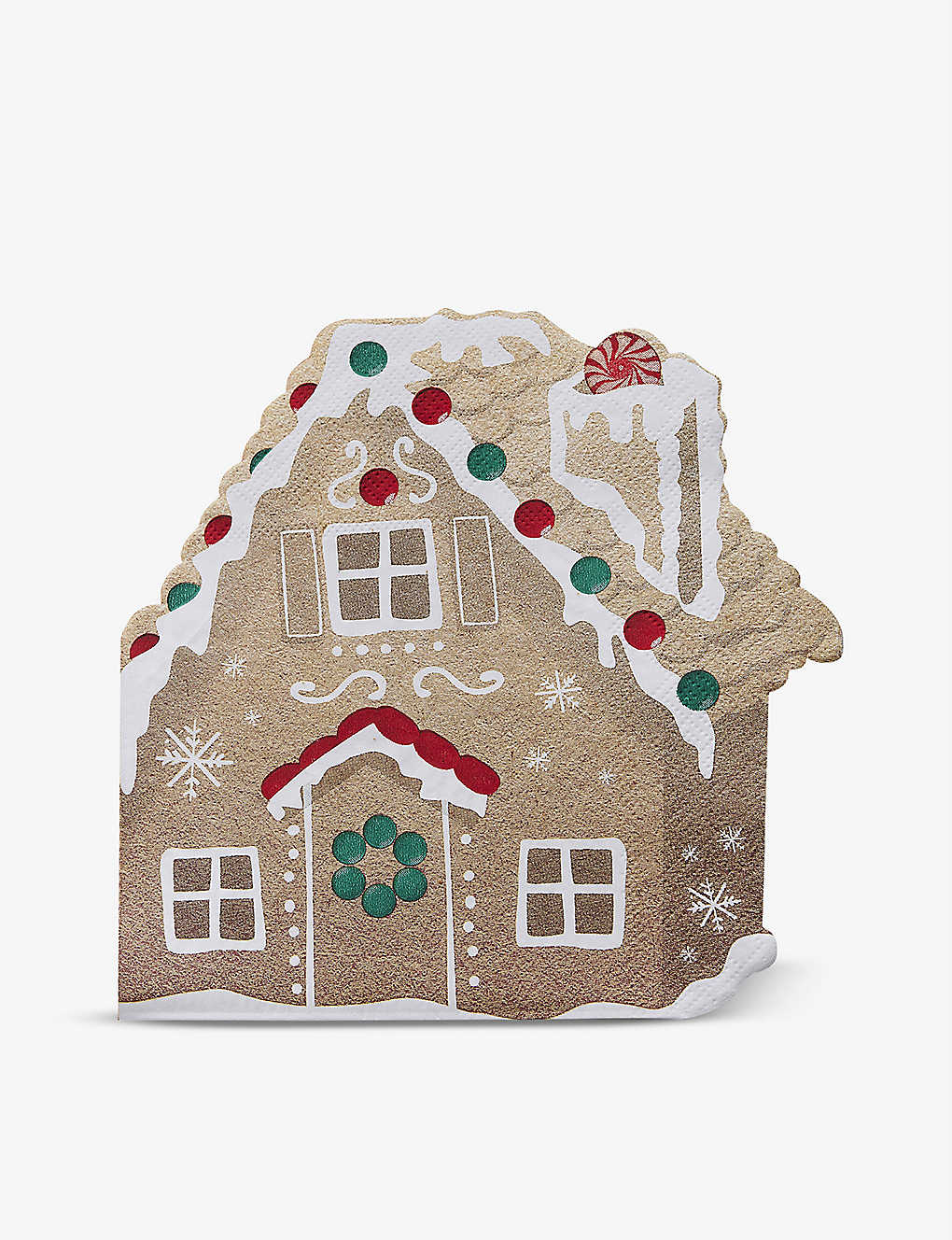 GINGER RAY: Gingerbread House paper napkins pack of 16