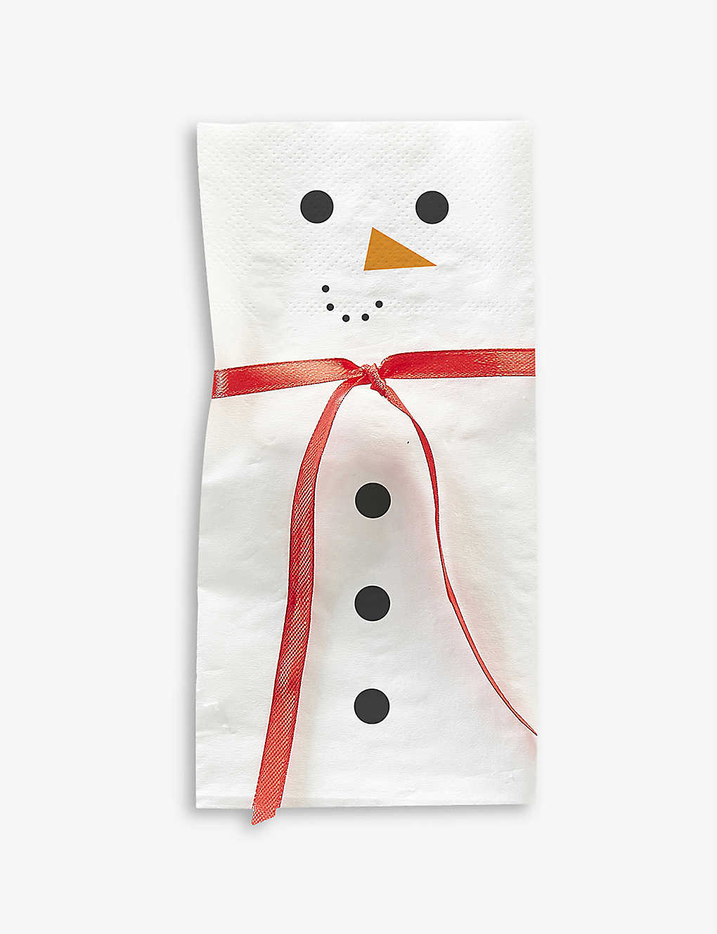 GINGER RAY: Snowman scarf napkins