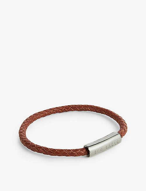 TED BAKER: Beball braided leather bracelet