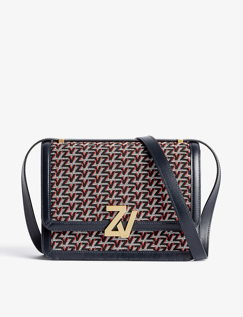 ZADIG&VOLTAIRE: ZV leather and canvas cross-body bag