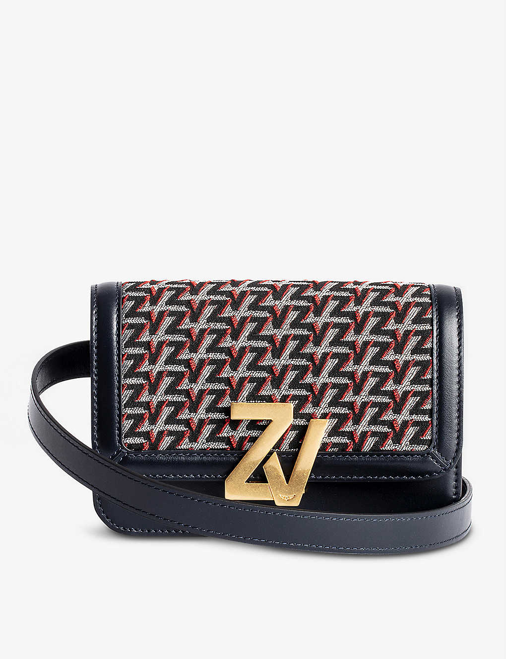 ZADIG&VOLTAIRE: ZV Initiale Le Tote leather monogram cross-body bag