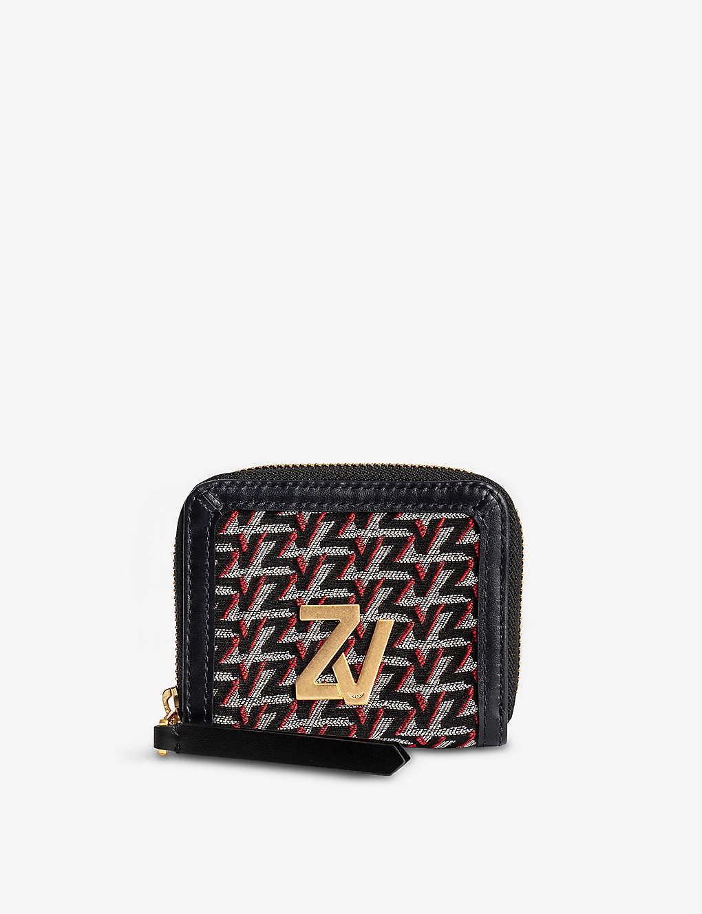 ZADIG&VOLTAIRE: ZV Initiale Le Compact leather zip wallet