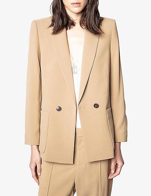 Visko crepe straight cut jacket