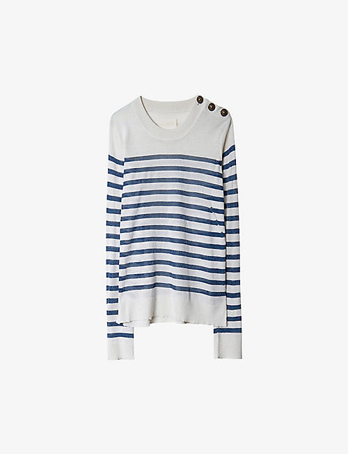 ZADIG&VOLTAIRE: Miss Stripes woo-blend jumper