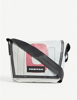 FREITAG: Lassie small recycled-tarpaulin messenger bag