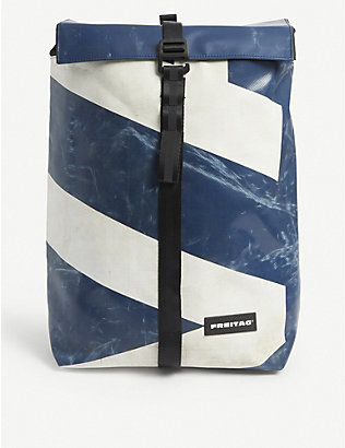 FREITAG: Clapton recycled-woven roll-top backpack