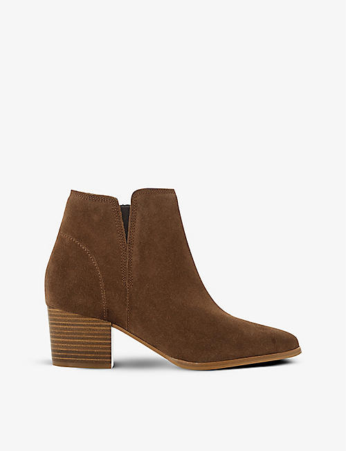 DUNE: Payge nubuck leather ankle boots