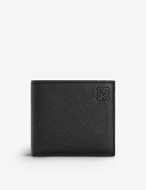 LOEWE: Logo-embossed leather bifold wallet