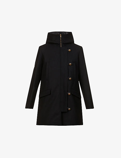 SESSUN: Camp Night wool-blend coat