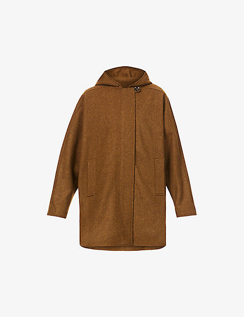 SESSUN: Nana hooded wool-blend coat