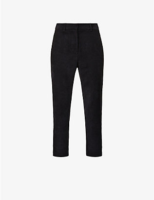 SESSUN: Princess H straight-leg high-rise corduroy trousers