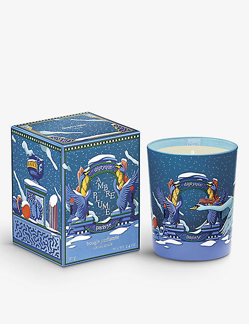 DIPTYQUE: Ambre Plume scented candle 70g
