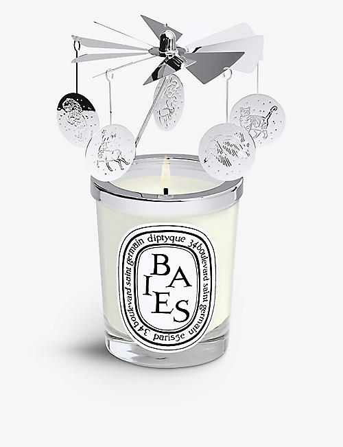 DIPTYQUE: Silver-toned candle carousel