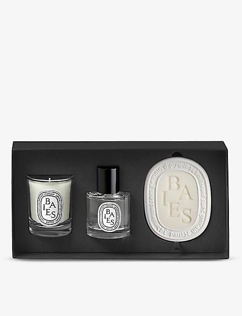 DIPTYQUE: Baies scented candle, fragrance and scented oval set of three 105g, 50ml