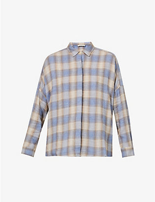 SESSUN: Tartan wool-blend shirt