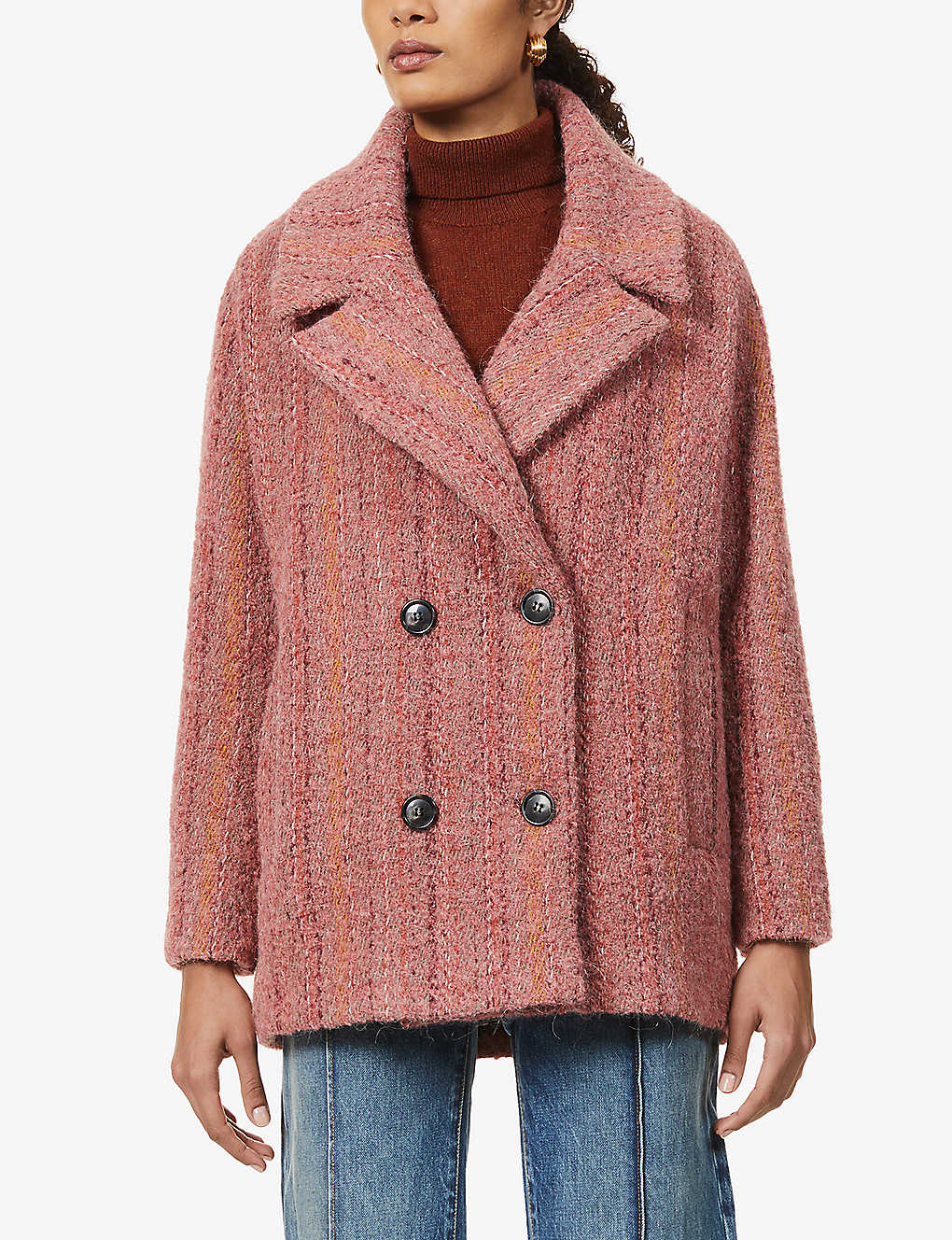 SESSUN: Beach House double-breasted woven coat