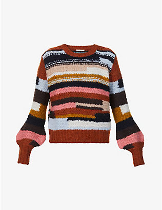 SESSUN: Allen striped knitted jumper