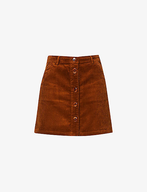 SESSUN: Simone corduroy cotton-blend mini skirt