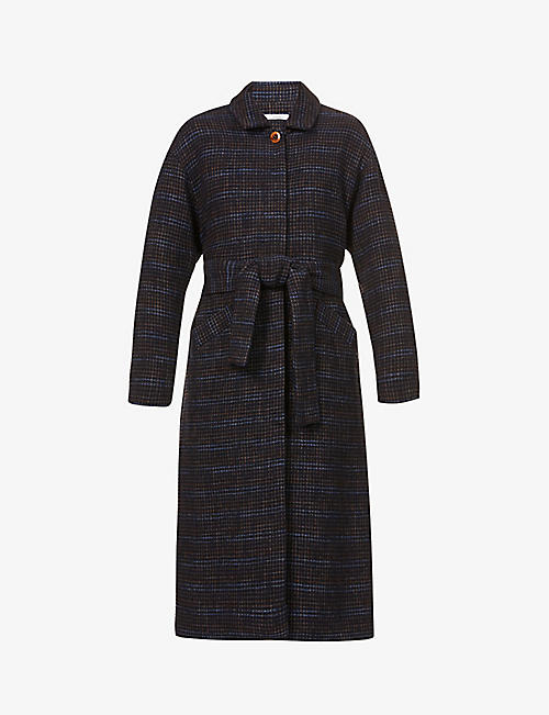 SESSUN: Single-breasted wool-blend coat