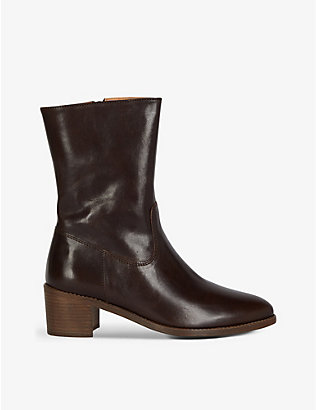 SESSUN: Octillo leather ankle boots