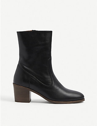 SESSUN: Ludd suede ankle boots