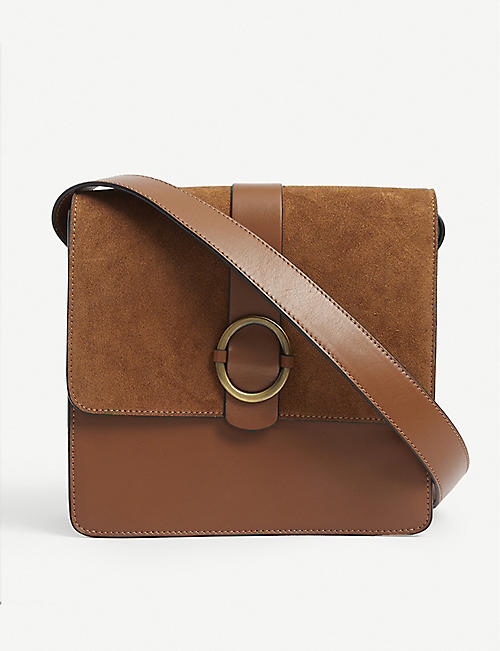 SESSUN: Théa leather cross-body bag