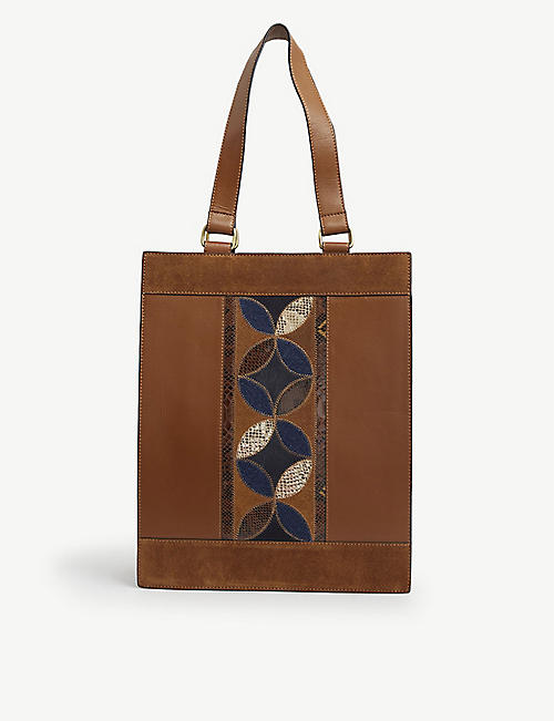 SESSUN: Livio patchwork leather tote bag