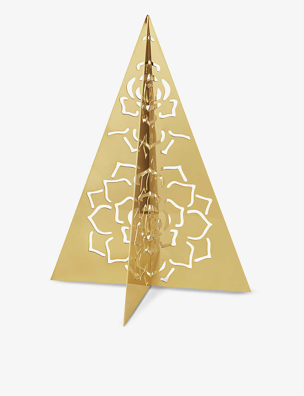 GEORG JENSEN: Ice Flower 18ct gold-plated tree decoration 16cm