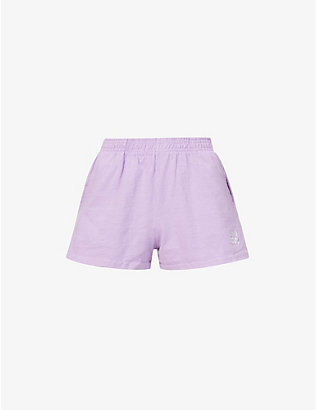 LIVINCOOL: Brand-embroidered cotton-jersey shorts