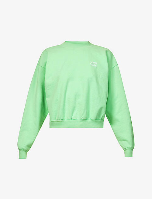 LIVINCOOL: Essential logo-embroidered cotton-jersey sweatshirt
