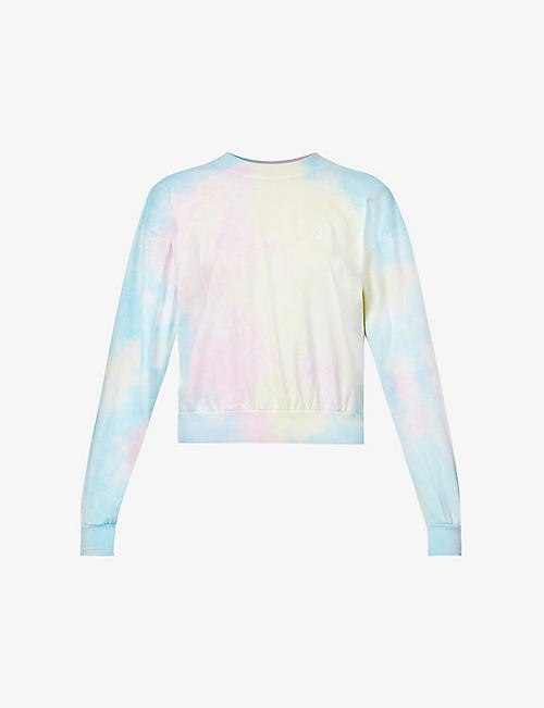 LIVINCOOL: Essential tie-dye pattern cotton-jersey sweatshirt