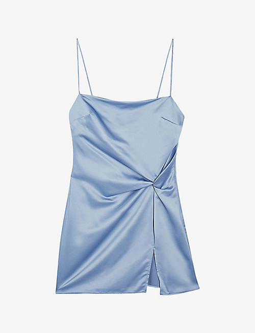TOPSHOP: Twist slip mini dress
