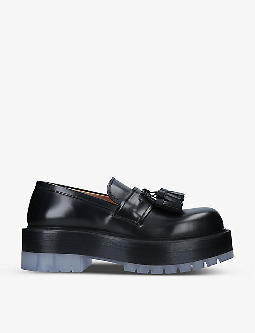 BOTTEGA VENETA: Stilt tasselled leather loafers