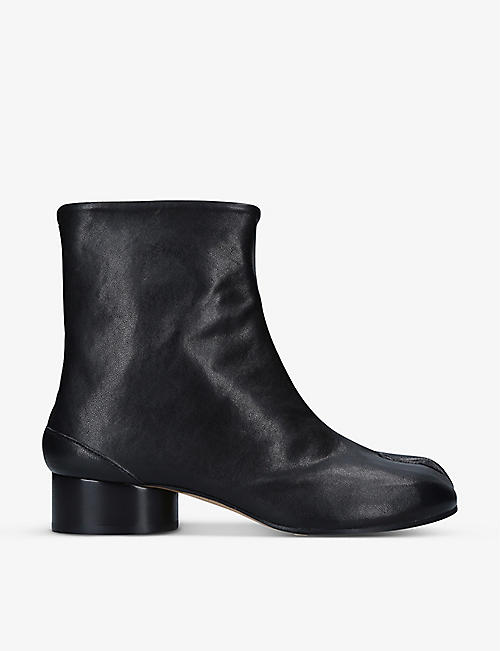 MAISON MARGIELA: Tabi heeled leather boots