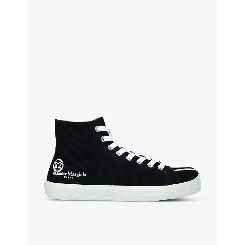 Maison Margiela TABI SPLIT-TOE CORDUROY HIGH-TOP TRAINERS