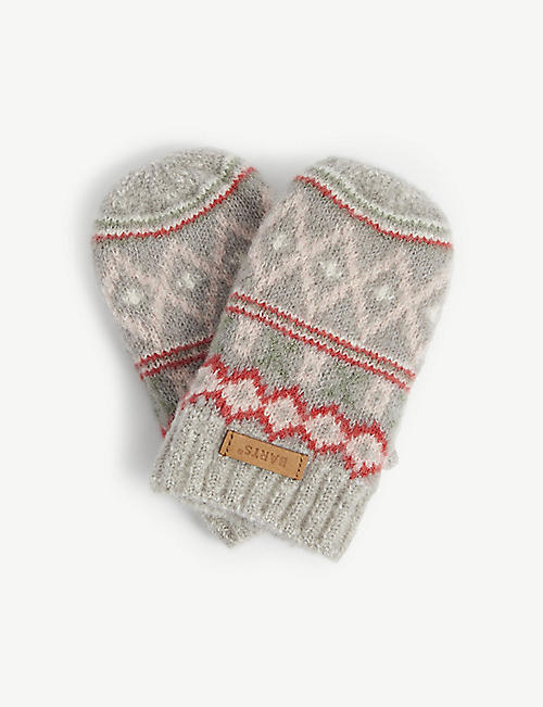 BARTS AL: Dibbi patterned knit mittens