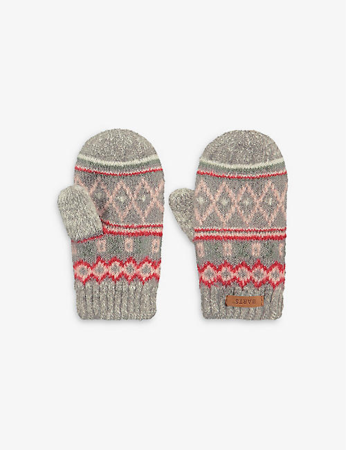 BARTS AL: Dibbi patterned knit mittens 0-2 years