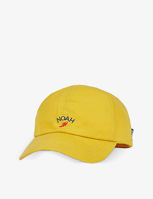 BARBOUR: Barbour x Noah brand-embroidered waxed cotton baseball cap